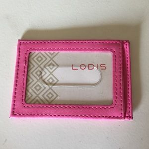 LODIS PINK LEATHER CARD/ID CASE NWOT